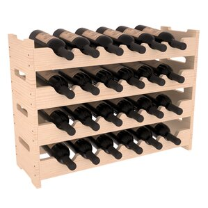 Karnes Pine Mini Scalloped 24 Bottle Tabl..