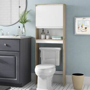 Medium Brown Wood Over The Toilet Bathroom Cabinets ...