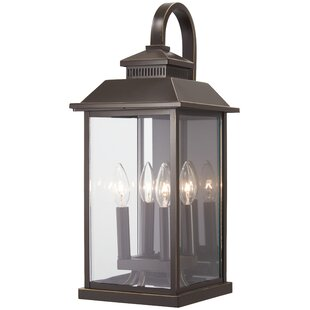 Affordable Price Helms 4-Light Outdoor Wall Lantern By Alcott Hill