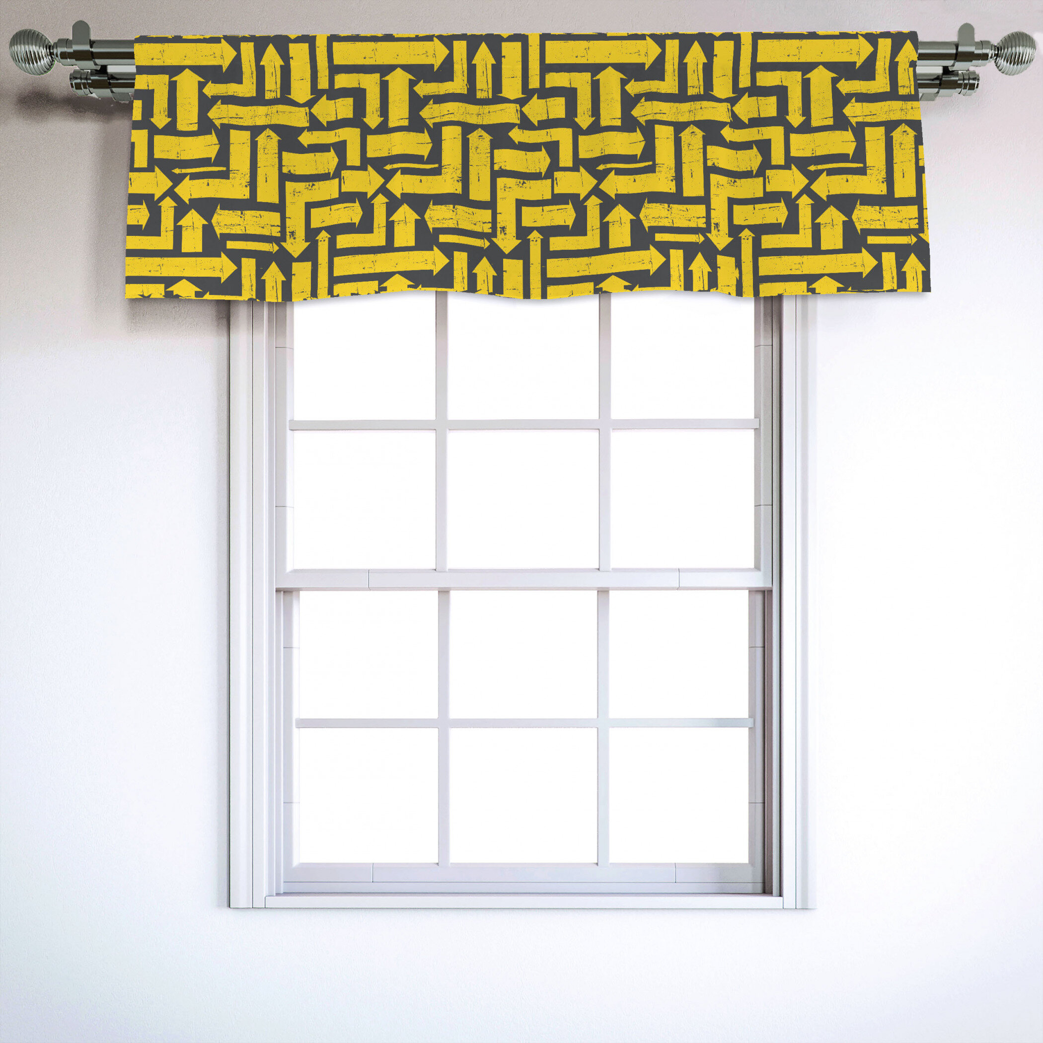 Picture of: East Urban Home Contemporary 54 Window Valance Wayfair