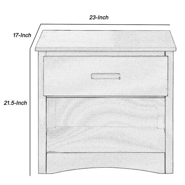 Latitude Run Arielis 1 Drawer Solid Wood Nightstand In Gray Wayfair