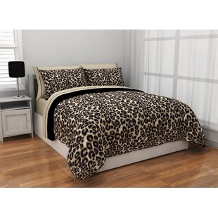 Cheetah Reversible Comforter Set