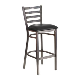 Welshire Coated Ladder Back Metal 30 Bar Stool by Latitude Run