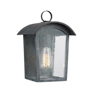 Gracie Oaks Lency 1-Light Outdoor Flush Mount
