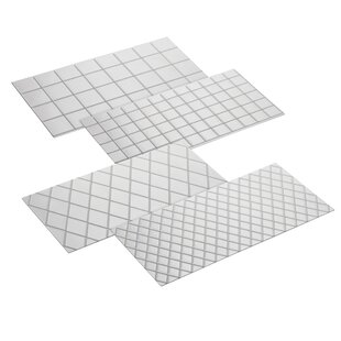 4 Piece Quilted Fondant Imprint Mat Set