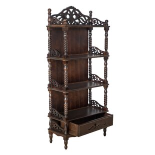 Aliceville Carved Standard Bookcase by Bloomsbury Market #2