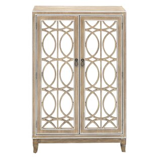 Alanis 2 Door Mirrored Accent Cabinet by Ophelia & Co. SKU:AD560354 Purchase