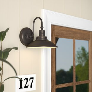 Fannie 1-Light Outdoor Barn Light By Laurel Foundry Modern Farmhouse Outdoor Lighting