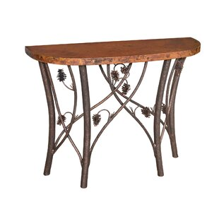 Oneybrook Piney Woods Half Moon Console Table
