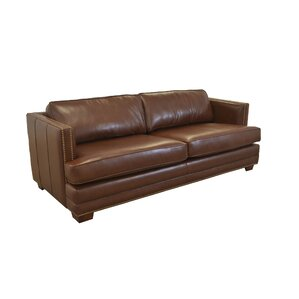 millbury genuine top grain leather sofa