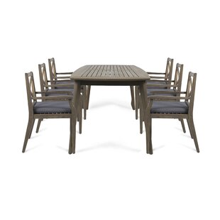 Gelb 7 Piece Dining Set with Cushions