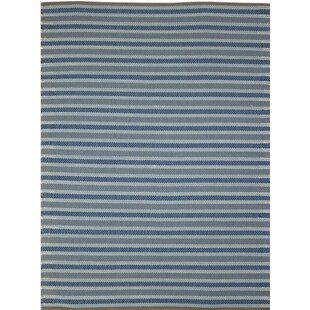 Reviews Brette Flat Woven Blue Indoor/Outdoor Area Rug ByWilliston Forge