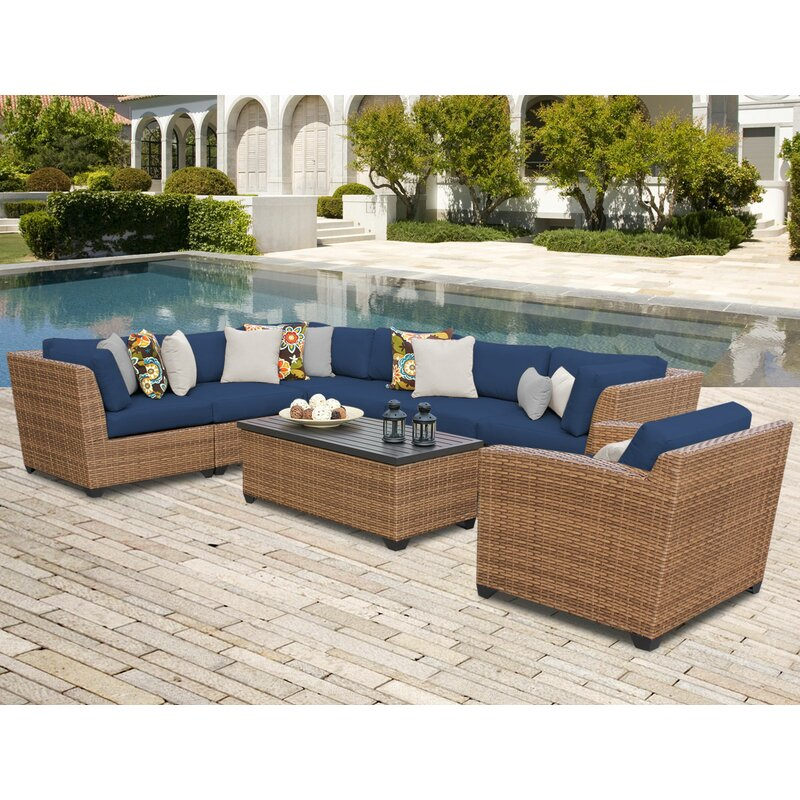 East Village 8 Piece Sectional Seating Group with Cushions