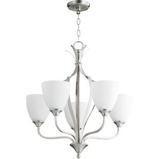 Brookview 5-Light Shaded Chandelier by Fleur De Lis Living