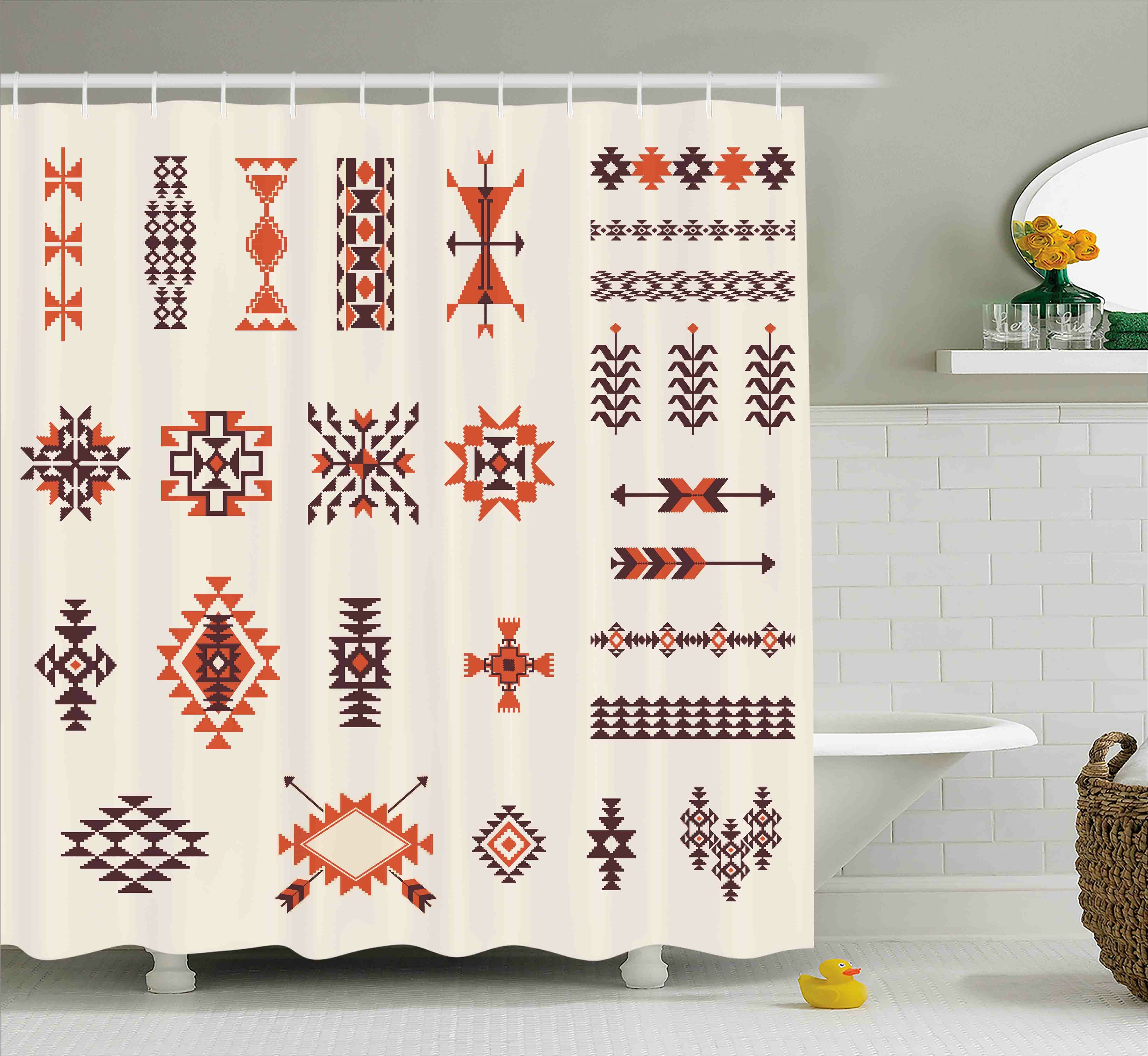 Loon Peak Ayla Aztec Tribal Pattern Shower Curtain