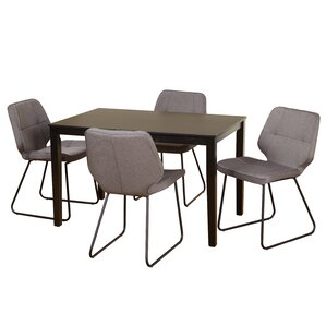 Goldner 5 Piece Dining Set by Mercury Row