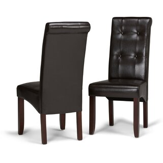 Amador Deluxe Upholstered Dining Chair (Set of 2) by Alcott Hill SKU:CE760891 Check Price