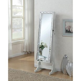 Farragut Free Standing Jewelry Armoire with Mirror
