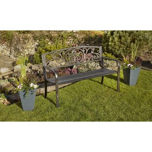 Jaliyah Steel Bench By Marlow Home Co.