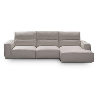 Savini Leather Sectional by Castello