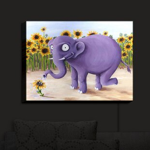 East Urban Home Growth Spurt Elephant' Print on Fabric