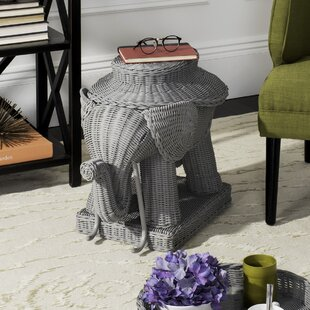 Frazier Elephant Rattan End Table