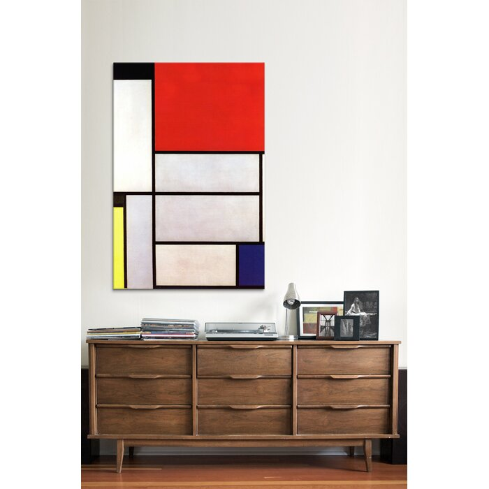 "Mondrian Furniture icanvas ""tableau l, 1921""piet mondrian graphic art on wrapped"