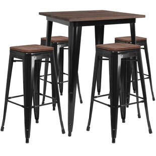 Presswood 5 Piece Pub Table Set Williston Forge