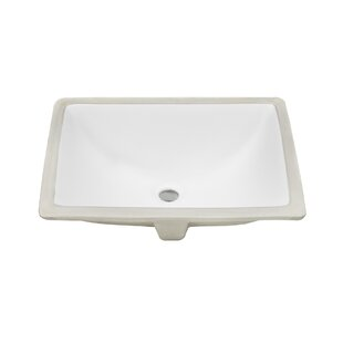 Ticor Sinks Belfast Series Ceramic Rectangular Undermount Bathroom Sink wi..
