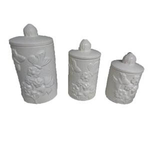 Butterfly 3 Piece Kitchen Canister Set