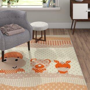 Friends Orville Orange/Grey Rug by Viv   Rae