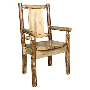 Rivas Hand-crafted Captain's Solid Wood Dining Chair by Loon Peak