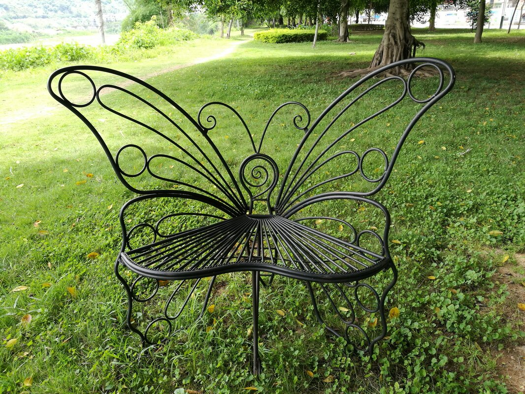 Hi-Line Gift Ltd. Butterfly Metal Garden Chair & Reviews | Wayfair