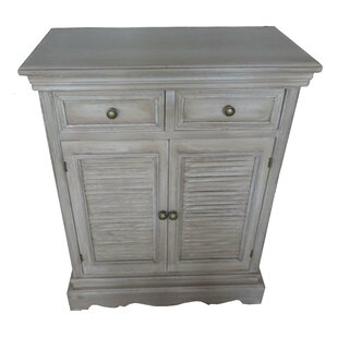 Wood Louvered 2 Drawer Accent Cabinet by Attraction Design Home