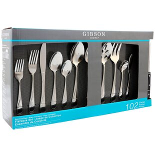 Brantley 102 Piece 18/10 Stainless Steel Flatware Set, Service for 12