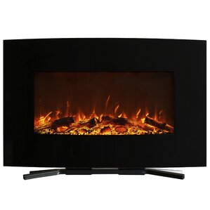 Northwest Curved Wall Mount Electric Fireplace Image