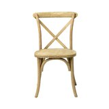 Cross Back Side Chair in Rustic (Set of 2) by Commercial Seating Products