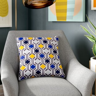 Antonia Geometric Cotton Throw Pillow