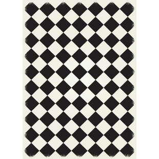 White And Black Diamond Rug Wayfair