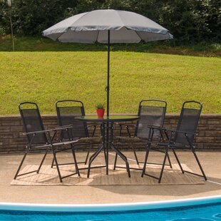 Tollette 5 Piece Bistro Set with Umbrella