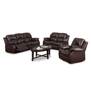 Bryce Reclining 3 Piece Living Room Set by Latitude Run