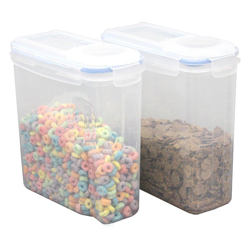 Rebrilliant Large BPA Free Plastic Cereal Bulk Food Storage