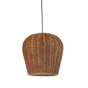 Kouboo Handwoven 1-Light Bell ..