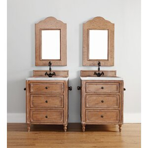 Berlin 26″ Single Bathroom Vanity with Mirror