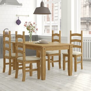 Review Dodge Dining Set With 4 Chairs