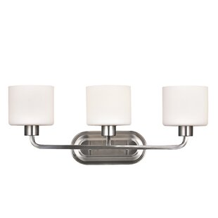 Reviews Cherryvale 3-Light Vanity Light By Latitude Run