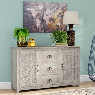 Joellen Timber Hand Curved Sideboard Mistana
