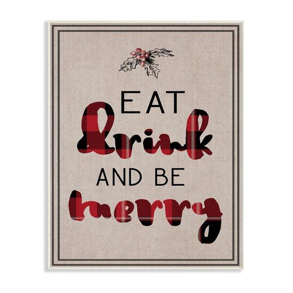 Eat And Drink Wall Art Wayfair