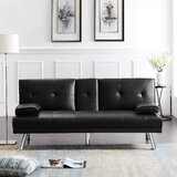 Breane Twin 66.2 Tufted Back Convertible Sofa by Latitude Run®