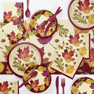 Arya Fallen Leaves 73 Piece Party Supplies Kit